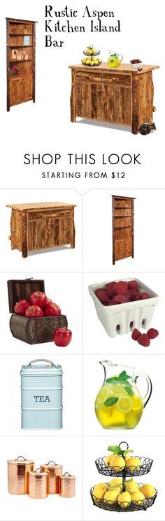 """Rustic Kitchen"" by dutchcrafters on Polyvore featuring interior, interiors, interior design, home, home decor, interior decorating, DutchCrafters, Nearly Natural, Artland and Luigi Bormioli"