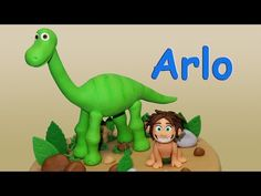The Good Dinosaur (Cake Topper) Part 2: Spot / Un Gran Dinosaurio para decorar tortas Parte 2: Spot - YouTube