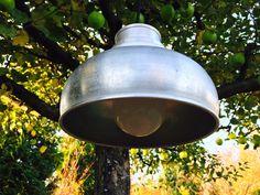 Vintage Deckenlampen - Vintage Lampe Milchtrichter klein - ein Designerstück von schaebigundchic bei DaWanda