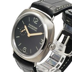 PANERAI PAM00338 42mm 鈦金屬手動腕錶Model:Radiomir 42mm Titanium Production Years:2010-Current Movement:Calibre P.999/1 Power Reserve:60 Hours Water Resistance:100m Dial Color:Black Sandwich Bezel:Polished Steel Case:Brushed Titanium Caseback:Exhibition Crown Protector:No Crystal:1.5mm Sapphire Diameter:42mm Strap/Bracelet:Alligator Lug Width:24mm Reference Number:PAM338 PAM00338