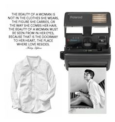 """She wore nothing but a white shirt yet she was the most beautiful woman in the room..."" by idocoffee ❤ liked on Polyvore featuring Impossible, women's clothing, women, female, woman, misses, juniors, audreyhepburn and whiteshirt"