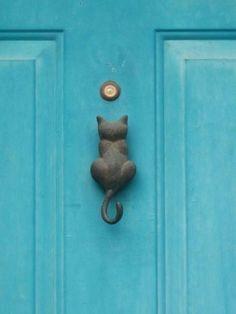 Cat door knocker. Neat!