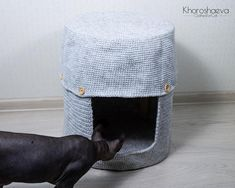 Cat House for stool crochet pattern PDF Cozy House for   Etsy Cozy House, Stool, Crochet Patterns, Good Things, Cats, Gatos, Cosy House, Crochet Pattern, Cat