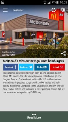 Download the FREE #Born2Invest Android app to get the full scoop and many more business news summaries. #mcdonalds #gourmet #hamburgers #consumer