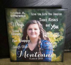Graduation Class of 2017 Custom Photo Canvas  Guest Book Alternative by HeartlandSigns on Etsy