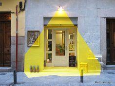 Fachada de restaurante vegetariano de Madrid