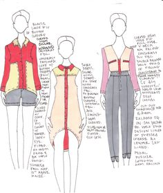 developmental sketches I did for my Final Line - Hoyden by Krista Marie Kelly