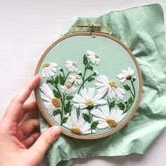Wonderful Ribbon Embroidery Flowers by Hand Ideas. Enchanting Ribbon Embroidery Flowers by Hand Ideas. Embroidery Needles, Hand Embroidery Stitches, Silk Ribbon Embroidery, Embroidery Hoop Art, Crewel Embroidery, Hand Embroidery Designs, Embroidery Techniques, Cross Stitch Embroidery, Embroidery Ideas