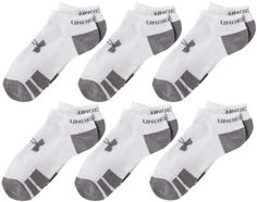 Under Armour Youth Resistor No Show Socks, White, Youth Large (Pack of 6) Under Armour,http://www.amazon.com/dp/B0089SZX2A/ref=cm_sw_r_pi_dp_V3bttb0635G15ENN