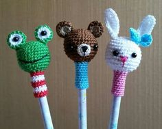 pencil toppers. for orders visit my Instagram account: little_gumi_pedidos