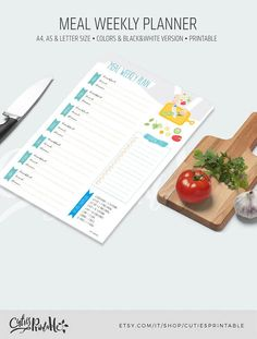 Organize your meal in style!Printable Meal Weekly Planner in lovely soft colours and a pretty water colour background.Use this planner to organize your weekly meals and keep track of your shopping list. This planner includes a shopping list and every day of a week divided into breakfast, lunch and dinner.