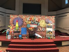 Maker Fun Factory VBS Kids Church Decor, Church Camp, Gadgets And Gizmos Vbs, Time Travel Machine, Maker Fun Factory Vbs, Childrens Sermons, Vbs Themes, Imagination Station, Construction Theme