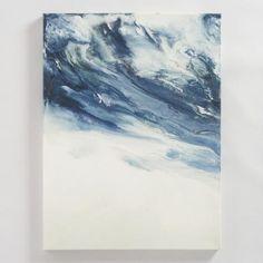 Blue Creme Encaustic by Corrie LaVelle   World Market
