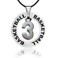 Basketball Jersey Number Message Ring Necklace by First String Jewelry - JU