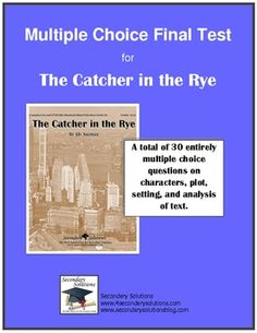 """questions for the novel the catcher in the rye The whole novel is holden's how does that relate to his dream of being the """"catcher in the rye"""" catcher in the rye socratic discussion questions."""