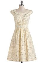 I need this dress so I can go frolic in the fall leaves!  Emily and Fin Day after Day Dress in Leaves | Mod Retro Vintage Dresses | ModCloth.com