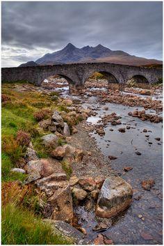 Sgurr Nan Gillean & Sligachan Bridge, Isle of Skye, Inner Hebrides, Scotland England And Scotland, Skye Scotland, Highlands Scotland, Scotland Castles, Scottish Highlands, Scotland Travel, British Isles, Beautiful Landscapes, Places To See