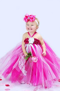 I can make a tutu so I know I can totally make a tutu dress! Would love to see on a little flower girl.