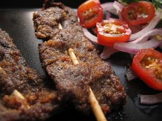 Suya! (this one actual has a recipe for suya spice, although she uses peanut butter instead of kuli-kuli)