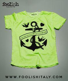 Tshirt Man / Green Fluo  Article: Anchor  www.foolishitaly.com