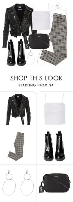 """Untitled #2614"" by mariie0h ❤ liked on Polyvore featuring Topshop, Yves Saint Laurent and Accessorize"