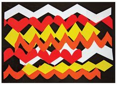 Aboriginal-style art and craft. Colours and patterns Book Crafts, Arts And Crafts, Aboriginal Culture, Student Drawing, Cut Out Shapes, Australian Curriculum, Artwork Display, Black Paper, Colored Paper
