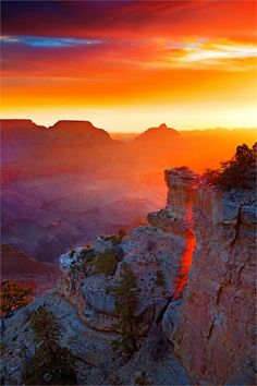 Sunrise in the Grand Canyon.  It's the most beautiful sunrise I've ever seen y'all!