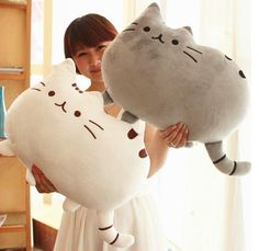 Novelty item soft plush stuffed animal doll,talking anime toy pusheen cat for girl kid;kawaii,cute cushion brinquedos, birthday US $10.86
