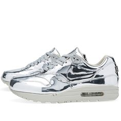 Nike Air Max 1 SP 'Liquid Silver' holy moly these are cool wish I had a pair.