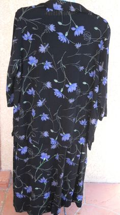 Plus Size 2 Pc Tank Dress 3X 4X Blazer Floral Black Blue Slinky Stretchy http://www.ebay.com/usr/prettywoman-2012