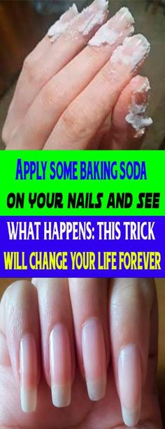 your grandmother gives you beauty, cooking or cleaning advice, she usually ends up telling you about baking soda. sodaWhen your grandmother gives you beauty, cooking or cleaning advice, she usually ends up telling you about baking soda. Healthy Nails, Healthy Skin, Healthy Beauty, Stay Healthy, Beauty Hacks For Teens, Beauty Hacks Diy, Diy Beauty Secrets, Baking Soda Shampoo, Baking Soda Nails