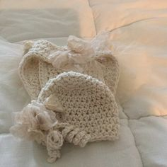Crocheted Tutu Diaper Cover & Hat by 374threads on Etsy