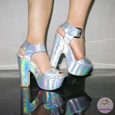 Hologram High Heels Sandals Party Shoes Plus Size 35-41 sold by shopmeiding. Shop more products from shopmeiding on Storenvy, the home of independent small businesses all over the world.