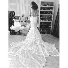 Flowers wedding dress