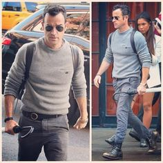 Justin Theroux Wears Acne Wool Sweater with Chest Pocket Detailing   UpscaleHype