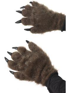 Haarige Monster-Handschuhe, braun - Artikelnummer: 474310000 - ab 6.99 EURO - bei www.racheshop.de!