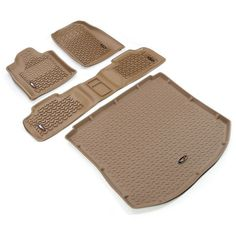 Floor Liners, Kit, Tan by Rugged Ridge Jeep Grand Cherokee WK) Jeep Cherokee Parts, 2011 Jeep Grand Cherokee, Grand Cherokee Overland, Jeep Grand Cherokee Limited, Cherokee Laredo, 2016 Jeep Wrangler Sahara, Jeep Scout, Jeep Wk, Jeep Stroller