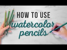 Drawing For Beginners How To Use Watercolor Pencils Watercolor Pencils Techniques, Watercolor Pencil Art, Watercolor Art Lessons, Colored Pencil Techniques, Pencil Painting, Pen And Watercolor, Watercolour Tutorials, Sketching Techniques, Watercolor Paintings For Beginners