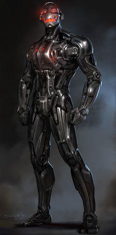 Avengers Age of Ultron - Ultron Concept Design by Phil Saunders Dc Comics Vs Marvel, Hq Marvel, Marvel Villains, Marvel Comic Universe, Marvel Heroes, Marvel Characters, Marvel Cinematic Universe, Mundo Marvel, Ultron Marvel