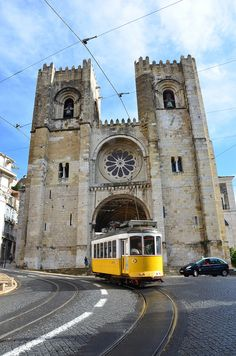Lisbon, Portugal. I saw this today and rode in the tram for the first time in my life.