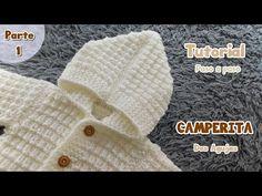 Como tejer una camperita, saco, sueter, chaleco para bebe Dos Agujas, Palitos, Tricot. Parte 1 de 2 - YouTube
