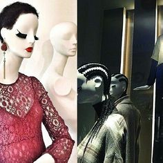 The @zara Milan window displays have had everyone in #visualmerchandising talking.Do you think the hair on the mannequins is inspired by Africa.