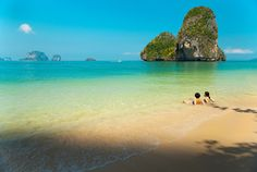 Voted one of the 10 most beautiful beaches in the world with its spectacular scenery, it's a must visit beach and a great spot to swim. Smiling People, Beaches In The World, Krabi, Most Beautiful Beaches, Thailand, Scenery, Swimming, Holidays, Water