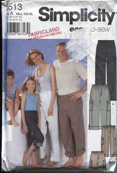 Simplicity 5513 Unisex Whole Family Pants by OnceUponAnHeirloom