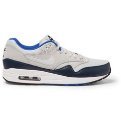 Nike Air Max 1 Leather and Mesh Sneakers | MR PORTER