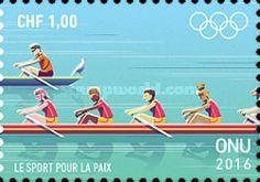 UN Geneva, 22.7.2016. Olympic Games - Rio de Janeiro, Brazil. Value 1,00 CHF, Issued (2/4): 180.000 pcs. Price: 40,52 CZK.