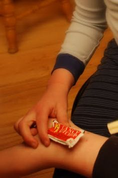 Ketchup packets as icepacks. They are the perfect size for kid bumps and bruises and they stay soft so they can form to the body part.  Smart.