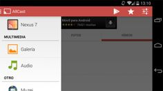 AllCast Receiver te permite hacer streaming multimedia entre dispositvos Android http://www.xatakandroid.com/p/109671