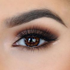 warm brown smokey eye @powderincmakeup #makeup