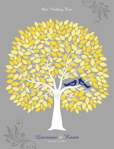 Wedding Tree Guest book Alternative Wedding Tree by TJLovePrints